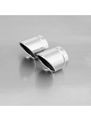 """endcap """"Rolled Up"""" (2 Stk.) stainless steel"""