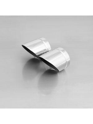 "endcap ""Slash Cut"" (2 Stk.) stainless steel, chrome"
