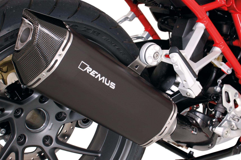 REMUS News - BIKE INFO 36 15 Black Hawk for BMW models